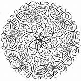 Mandala Coloring sketch template