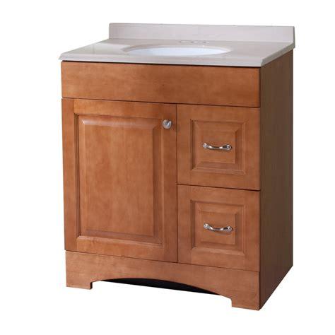 18 Bathroom Vanity Top by Shop Style Selections Almeta 30 6 In X 18 7 In Honey
