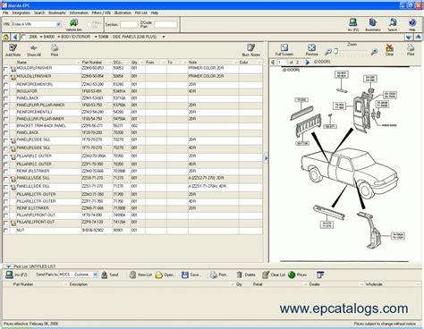 Mazda Usa 2009 Proquest Spare Parts Catalogue