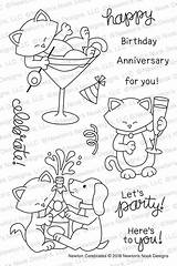 Newton Nook Clear Stamp Celebrates Stamps Coloring Newtonsnookdesigns Quilt Drawing Quick sketch template
