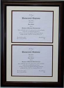 double diploma document certificate openings wood picture With double document frame 8 5 x 11