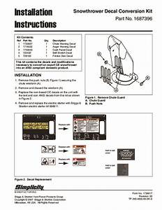 Simplicity Snow Blower Decal Conversion Kit Installation