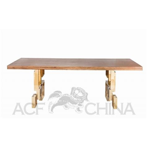 wood steel dining table stainless steel dining table with wood top acf china