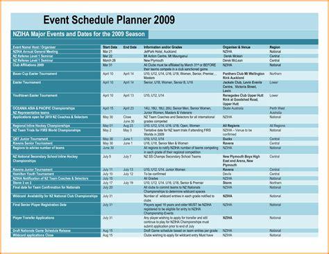 event schedule template event schedule template authorization letter pdf