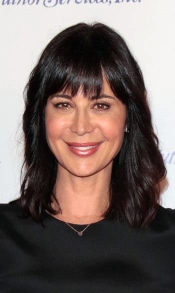 hairstyles catherine bell medium straight hairstyle  bangs