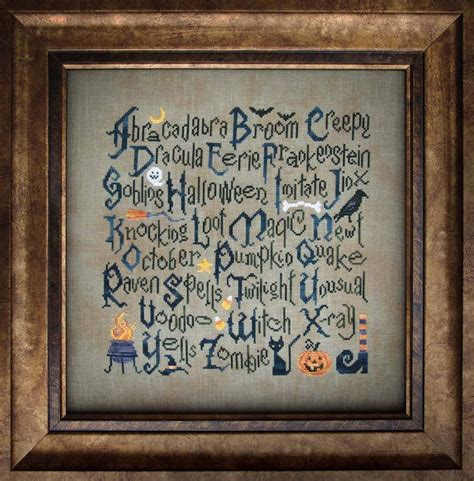 Halloween Sampler Cross Stitch Chart Cottage Garden