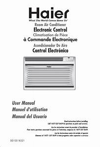 Haier Air Conditioner Hwr05xcj User Guide