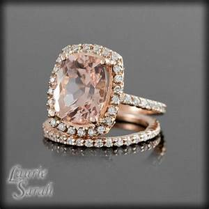 rose gold rings morganite in rose gold rings With rose gold morganite wedding rings