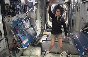 Sunita Williams of NASA provides a tour of the ISS orbital ...