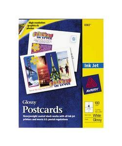 Templates Postcard 4 Per Sheet Autos Weblog Avery 8387 White Inkjet Postcards 5 5x4 25 200 Cards