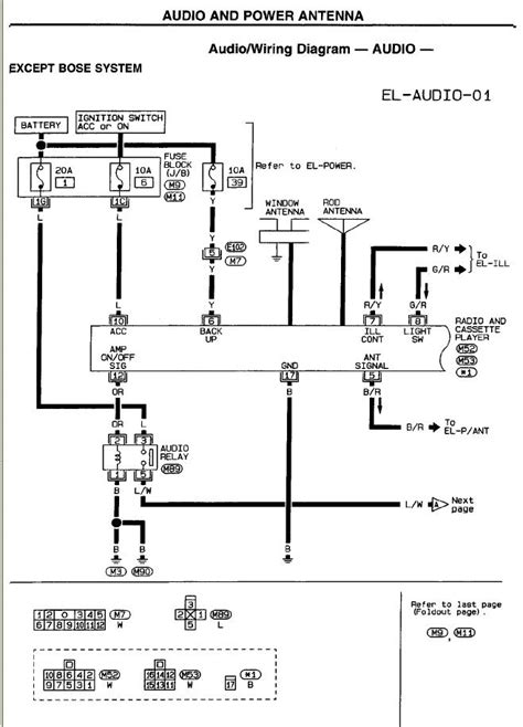 2001 Nissan Radio Wiring Harnes Diagram by I A 1996 Nissan 300 Zx That Has A Bose Stereo System In It