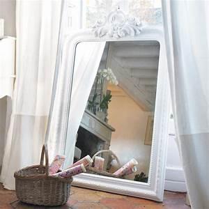 Miroir Fenetre Maison Du Monde : miroir trumeau sculpt en paulownia blanc h 120 cm altesse maisons du monde ~ Teatrodelosmanantiales.com Idées de Décoration