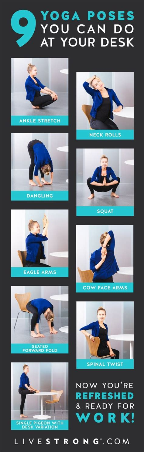 exercises you can do at your desk yoga poses workouts for beginners 9 yoga poses you can