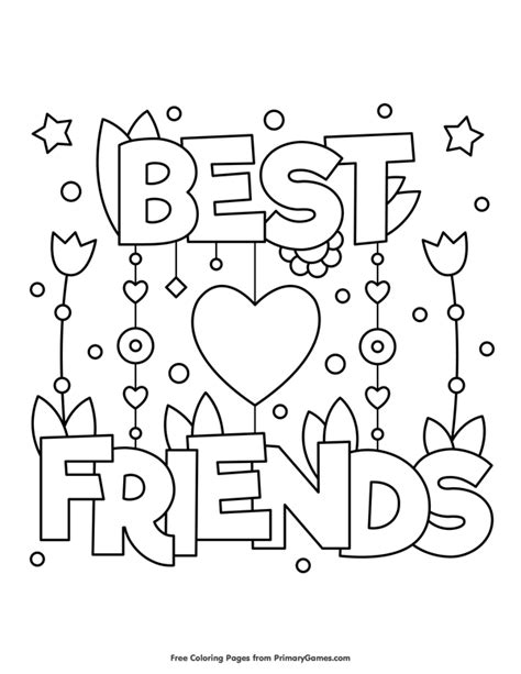 Best Friends Kleurplaten by S Day Coloring Pages Ebook Best Friends