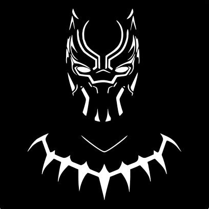 black panther silhouette mens  shirt black small