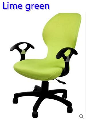 lime green colour lycra computer chair cover fit for