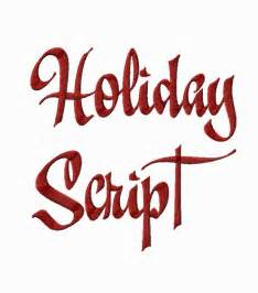 Holiday Machine Embroidery Script Font