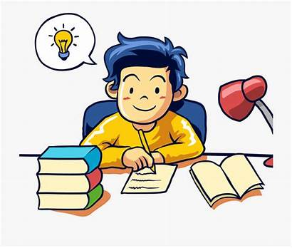 Writing Clipart Student Learning Transparent Cartoon Writer