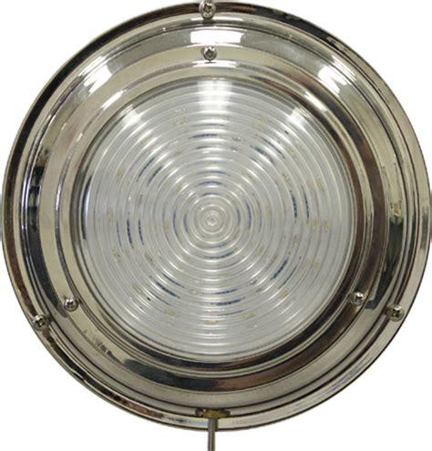 marine led cabin lights titanium nitrade dome light 6 3 4 quot 24 led white