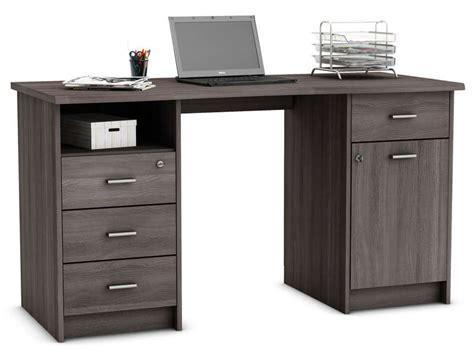 conforama bureau informatique bureau 135 cm chãªne