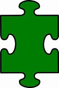 Puzzle Piece Green Clip Art at Clker.com - vector clip art ...