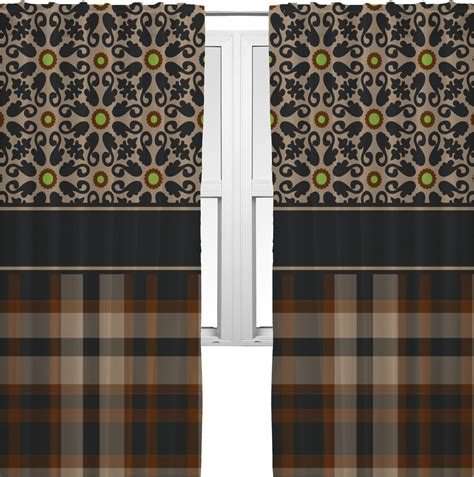 Moroccan Tile Curtain Panels by Moroccan Mosaic Plaid Curtains 20 Quot X84 Quot Panels