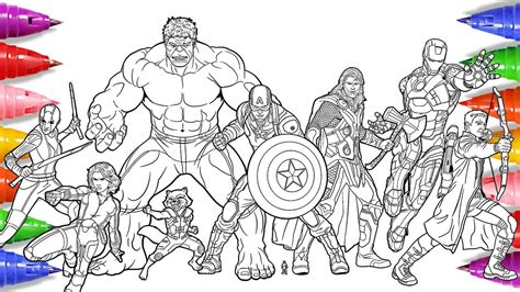 coloring pages avengers endgame tribaltattoosgallery