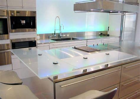 plan de travail cuisine en verre plan de travail cuisine