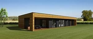 maison moderne toit plat en bois With maison en bois toit plat