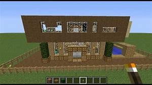 Minecraft Maison Moderne Bois BONUS YouTube