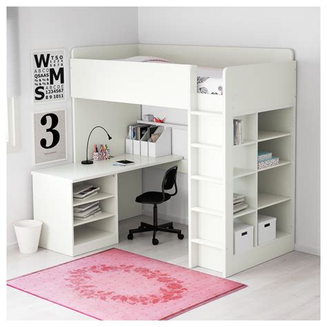 desk under bed ikea stuva loft bed combo w 2 shlvs 3 shlvs white 207x99x193 cm