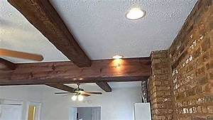 Recessed lighting loft insulation : Neon mini loft big beams exposed brick recessed lights