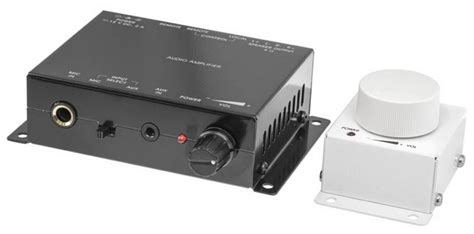 Prok Zone Amplifier With Mic Input Wired Remote