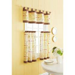 better homes and gardens cafe kitchen curtain set decor walmart com