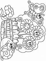 Coloring Flower Gardens Butterfly Flowers Preschool Drawing Adults Colouring Printable Gardening Spring Adult Getdrawings Printables Secret Boy Gareden Preschoolers Popular sketch template