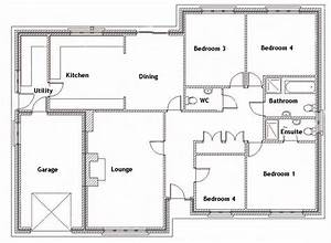 ground floor plan for the home pinterest house plans With 4 bedroom house floor plans