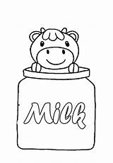 Coloring Milk Cow Pages Carton Children Bottle Cartoon Clip Template Cool Clipart Printable Precious Sisters Moments Face Popular Getcoloringpages Library sketch template