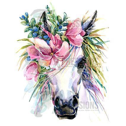 floral head piece unicorn  xpressions