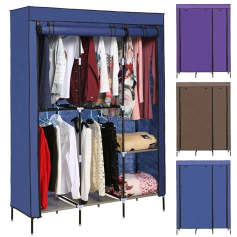 Cloth Storage Wardrobe by Portable Canvas Wardrobe Bedroom Home Furniture Clothes