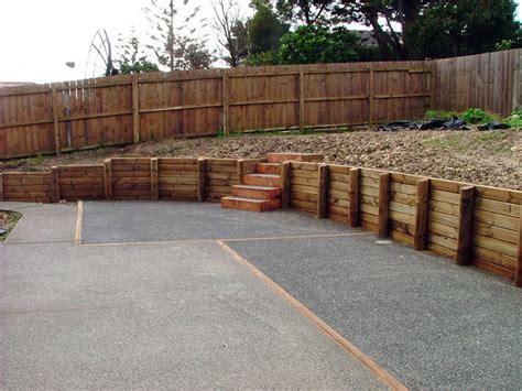 wood retaining wall wood timber retaining wall ideas wood timber retaining wall design design
