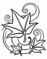 Coloring Leaves Leaf Fall Autumn Pentagram Falling Drawing Printable Landscape Jungle Tree Clover Rose Maple Petals Pagan Sheets Getdrawings Getcolorings sketch template