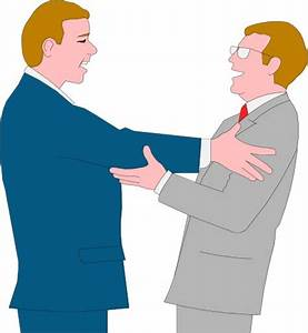Two businessmen greeting each other; Business