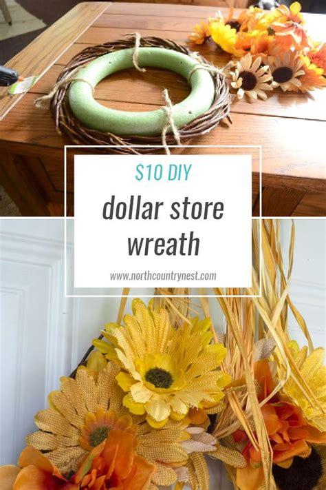 step diy dollar store fall wreath dollar stores