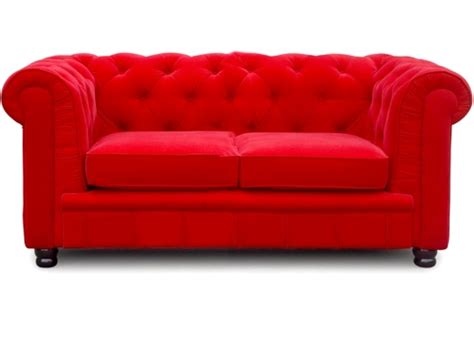 canap 233 chesterfield 2 places velours rouge el 233 gance