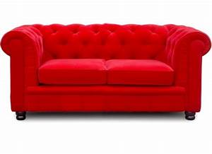 canape chesterfield 2 places velours rouge elegance With tapis rouge avec canape haute densite