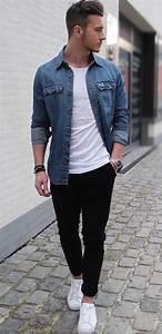 Best 25+ Denim shirt men ideas on Pinterest | Blue denim shirt Men casual and Men denim shirt ...