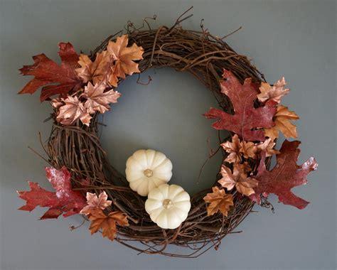 wreath diy a diy fall wreath with metallic shine