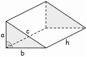 Grundfläche Berechnen Prisma : volumen des dreiseitigen rechtwinkligen prismas prismen ~ Themetempest.com Abrechnung