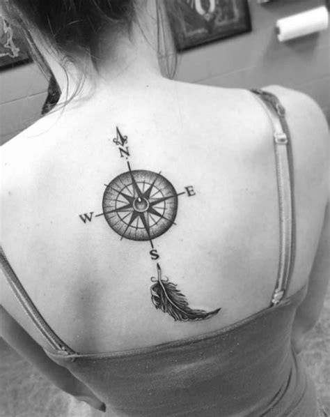 excellent compass tattoos designs