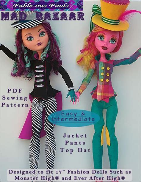 fable ous finds mad bazaar jacket pants  top hat doll